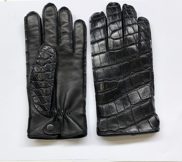 Real Crocodile Leather Gloves