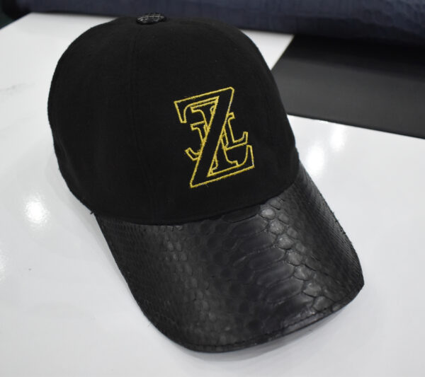 Zilli Python Leather Suede Baseball Cap